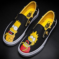 Vans Cartoon Simpson Canvas Old Skool Flat Sneakers Sport Shoes