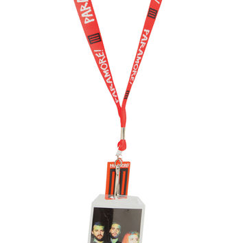 Paramore Red Lanyard | Hot Topic