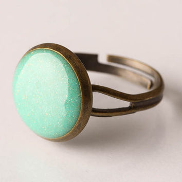 SALE-Light Emerald Shimmer Pinky Ring