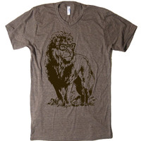 Mens Lion Professor T Shirt tee - American Apparel Tshirt - XS S M L XL and XXL (28 Color Options)