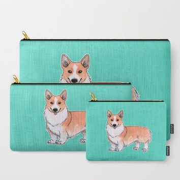 Corgi dog Carry-All Pouch by Savousepate
