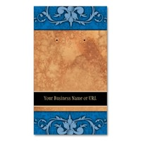 Custom Earring Cards Blue Vintage Damask