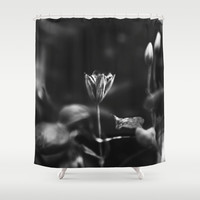 Reaching out - BW Shower Curtain by HappyMelvin Protanopia