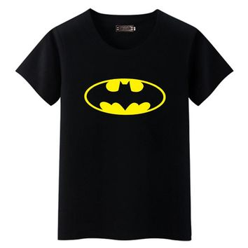 Men T Shirt Fashion Batman Printed O-neck Tee Summer Character Printing Short Sleeve Brand-clothing Basic Top Bottoming Clothes