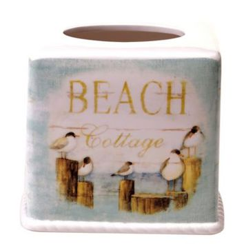 Seaside Cottage Boutique Tissue Box Cover