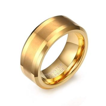 Men's Gold Plated Tungsten Ring