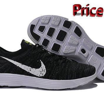 Factory Authentic Nike HTM Flyknit Trainer+ Black White 535089 101 shoes