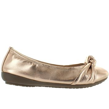 Me Too Jaci - Metallic Champagne Knotted Ballet Wedge