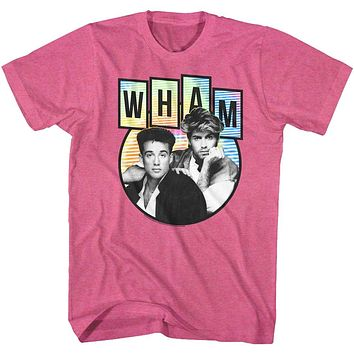 Wham T-Shirt Pastel Colors Pink Heather Tee