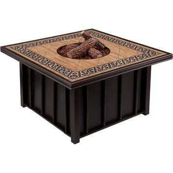 Aidan Outdoor Gas Fire Pit Tile Top