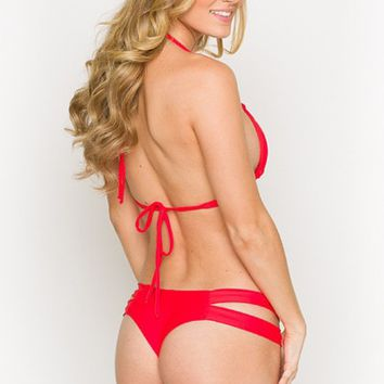 Montce Swim Euro Bottom | Red Bikini Bottom