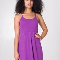 American Apparel - Organic Baby Rib Cross-Back Summer Dress