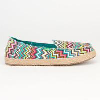 Sanuk Funky Fiona Womens Shoes Peacock Multi  In Sizes