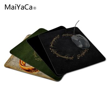 MaiYaCa New Anti-Slip PC The Lord of the Rings Movies Text Typography Writing Mouse Mat 220mmX180mmx2mm Pad Mice Mat for Optical