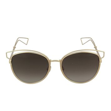 CHRISTIAN DIOR SIDERAL2 JB2 ROSE GOLD SIDERAL 2 BROWN SUNGLASSES