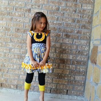 Birthday outfit, Boutique outfit, Birthday Dress, Girls Boutique set, Ruffle pants, Ruffles,