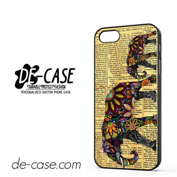 Elephant Book India Floral For Iphone 5 Iphone 5S Case Phone Case Gift Present