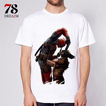 deadpool t shirt fashion dead pool anime t-shirt men tshirt clothing male S-3XL white top Tees