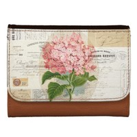 Vintage Pink Hydrangea French Ephemera Wallet