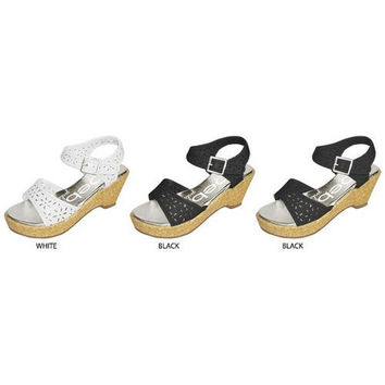bebe Girls Girl's Cut-Out Wedges Sandals