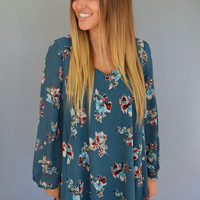 Floral Meadow Cutout Dress