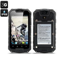 Snopow M9 IP68 Smartphone - Quad Core CPU, Walkie Talkie, 3G, Android OS, Waterproof, Shockproof, Dust Proof (Black)