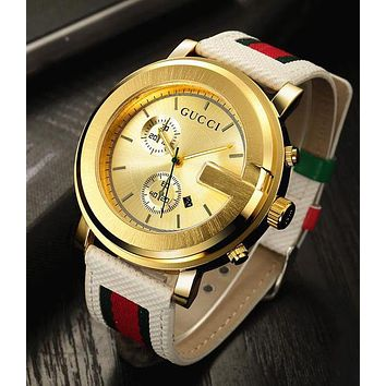 GUCCI Watch With LV Bracelets Ladies Men Watch Little Ltaly Stylish Watch F-PS-XSDZBSH  Gold