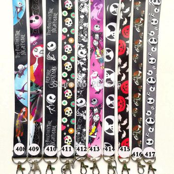 one cartoon The Nightmare Before Christmas Key Lanyard Cheetah ID Badge Holders Phone Neck Straps #444