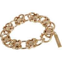 Givenchy Pale Gold Layered Chain Bracelet at Barneys.com