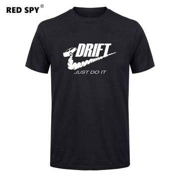 Casual t shirt men car drift just do it Print tops funny Short sleeve t-shirt men Cotton tee shirt mens t shirts fashion 2017