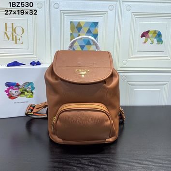 HCXX 19June 679 Prada Super Space Backpack 27-19-32 brown