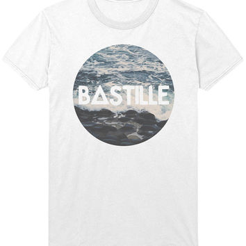 Bastille Waves Logo T-Shirt - Vintage Ocean Sea Indie Rock Music Shirt Sweatshirt - Mens / Womens