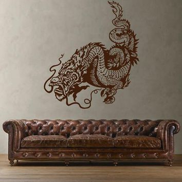 ik1597 Wall Decal Sticker Dragon mythical animal living bedroom teens