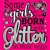 Born With Glitter w/ Glitter Ink - Hot Pink