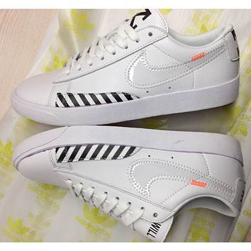 NIKE x Off White Fashion Old Skool Sneakers Sport Shoes