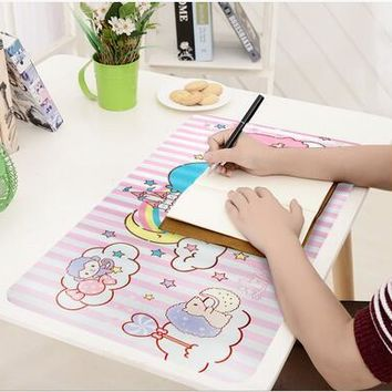 5 Pcs Cartoon My Melody Twin Stars Hello Kitty PVC Food Dish/Coffee/Cup Mat Picnic Anti-hot Oil-proof Table Mats