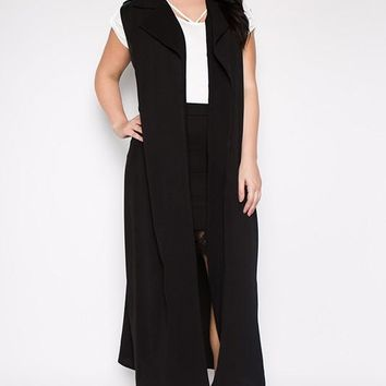Long Duster Cardigan Vest