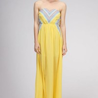 Put Your Record On Maxi Dress- Yellow