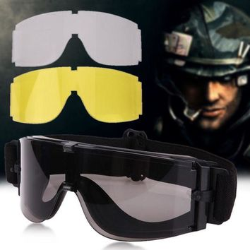 DCCK7N3 Cycling Sun Glasses Eyewear Outdoor UV400 Lens Military Airsoft Tactical Goggles Sunglasses Anti Dust + 1 Case oculos ciclismo
