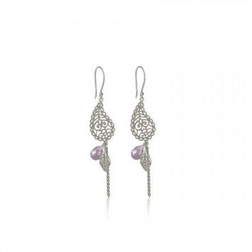 In Love With Life Earrings • Amethyst Silver