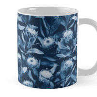 Evening Proteas - Denim Blue by micklyn