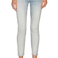 7 For All Mankind High Waisted Crop Skinny in Slim Illusion Bright Ice Blue