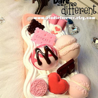 Unique handmade Delicious Ice Cream iPhone Case/Chocolate Biscuit Candy iPhone case with Whipped Cream iPhone 4 iPhone 4S Case Cover