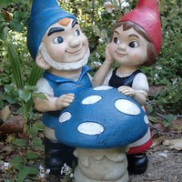 Gnomeo & Juliet with Shroom Statue only $46.95 at Garden Fun - Gnomeo & Juliet Garden Statues