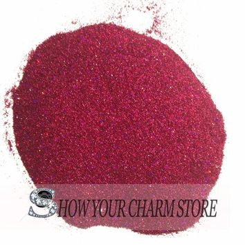 Laser Holographic Wine purple Red Color 0.2mm Fine Glitter Crafts Soapmaking Tatto Spa Products Ultrafine