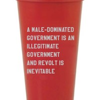 A Male-Dominated Government Is An Illegitimate Government and Revolt is Inevitable Travel Mug in Red