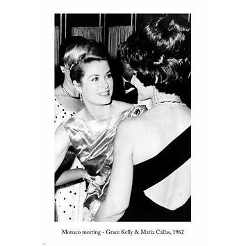 MONACO MEETING, Grace Kelly & Maria Callas ARTS POSTER 1962 24X36 Famous PIC