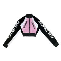 MOTORCROSS VELOUR JACKET BABY PINK
