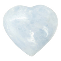 Blue Calcite Heart 02 - Crystal Healing Stone (3.4 Inches)