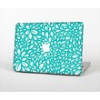"""The Teal and White Floral Sprout Skin Set for the Apple MacBook Pro 13"""""""